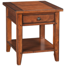 Aspen   Cross Country End Table with Drawer