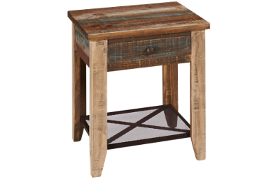 International Furniture Direct Antique End Table with Storage
