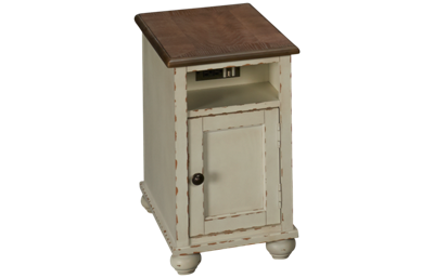 Ashley Realyn Chairside Table with Storage