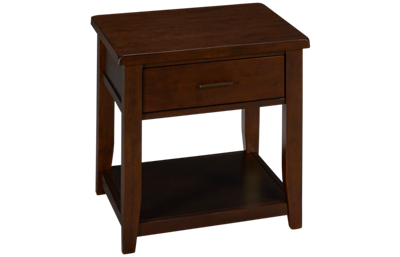 Jofran Twin Cities End Table with Storage