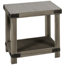 Aspen Industrial End Table Rectangle