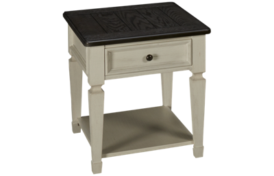 Liberty Furniture Allyson Park 1 Drawer End Table with Storage