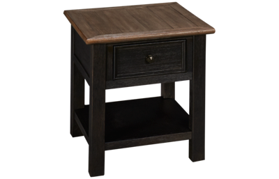 Ashley Tyler Creek Rectangle End Table with Storage