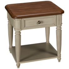 Klaussner Home Furnishings Nashville 1 Drawer End Table