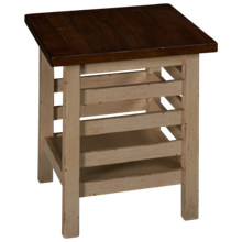 Aspen Modern Farmhouse Rectangle End Table
