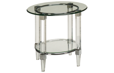 Bassett Mirror Cristal Round End Table
