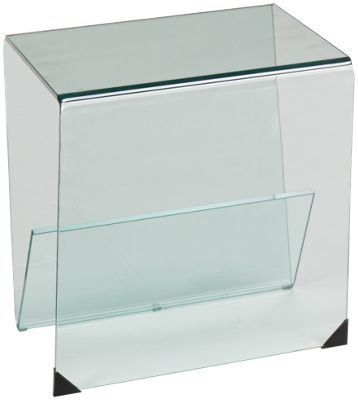 Chintaly Imports Bent Glass Chintaly Imports Bent Glass End Table    Jordanu0027s Furniture