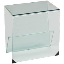 Chintaly Imports Bent Glass End Table