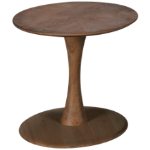 Hammary Oblique Round End Table