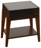 Casana Henderson End Table with Glass Top