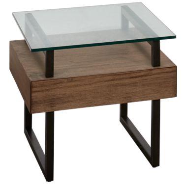 Casana Slade Casana Slade End Table With Glass Top Jordans Furniture
