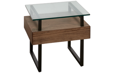 Casana Slade End Table with Glass Top