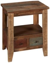 International Furniture Direct Antique Multicolor End Table