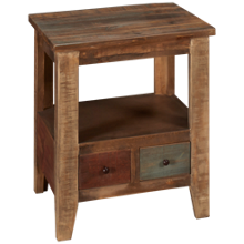 International Furniture Direct Antique Multicolor End Table