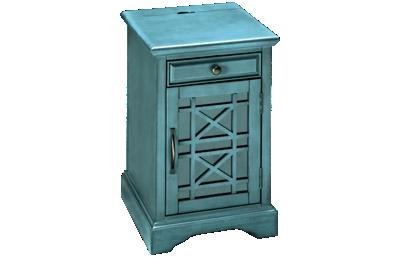 Jofran Craftsman Chairside Table with Storage