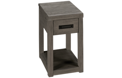 Riverside Riata Gray Chairside Table with Storage