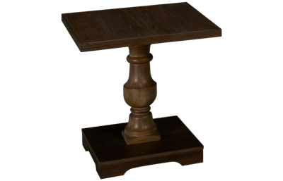 United Haywood Pedestal End Table
