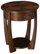 Hammary Concierge Oval End Table