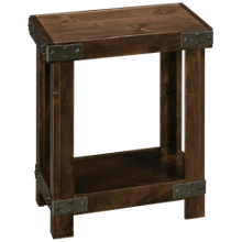 Aspen Industrial Chairside Table