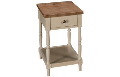 Jofran Grafton Farms 1 Drawer Chairside Table with Storage
