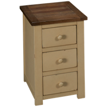 Klaussner Home Furnishings Kelson 3 Drawer Chairside Table