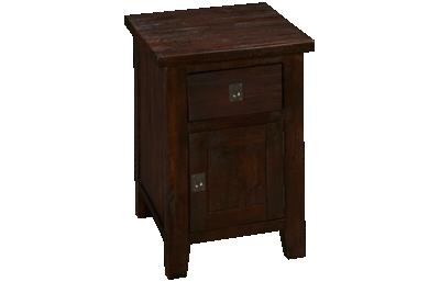 Jofran Kona Grove Cabinet Chairside Table with Storage