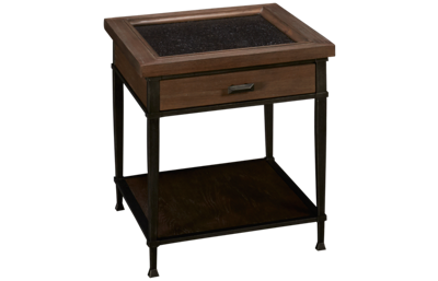Hammary Austin Rectangle End Table with Storage