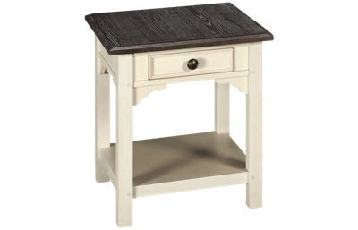 Riverside Grand Haven 1 Drawer Square Side Table with Storage
