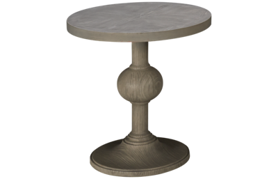 Universal Coastal Living Round Pedestal End Table