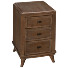 Hammary Oblique Chairside Table with 3 Drawers