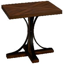Magnolia Home Iron Trestle End Table