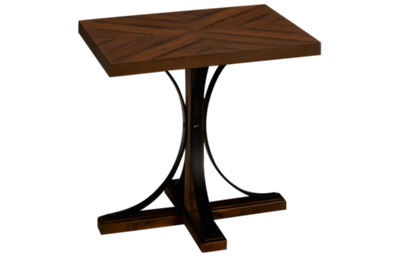 Magnolia Home Iron Trestle End Table
