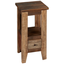 International Furniture Direct Antique Multicolor Chairside Table