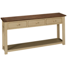 Klaussner Home Furnishings Kelson 3 Drawer Sofa Table