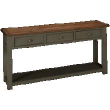 Klaussner Home Furnishings Kelson 3 Drawer Sofa Table