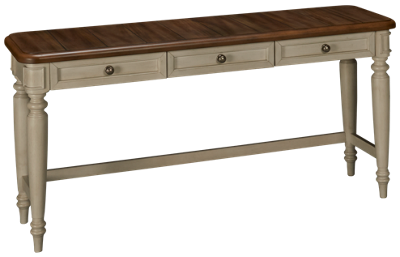 Klaussner Home Furnishings Nashville 3 Drawer Sofa Table