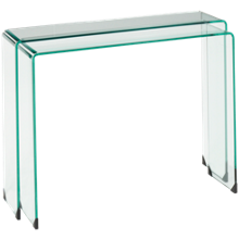 Chintaly Imports Bent Glass Nesting Sofa Tables