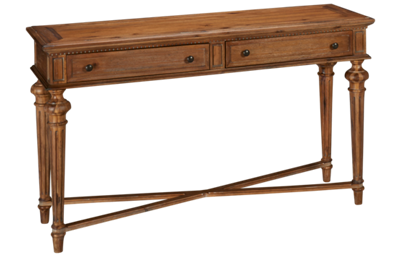 Hekman Wellington Hall Sofa Table with 2 Drawers
