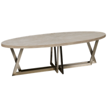 Riverside Lilly Oval Cocktail Table