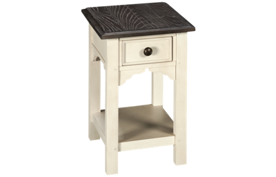 Riverside Grand Haven 1 Drawer Chairside Table with Storage