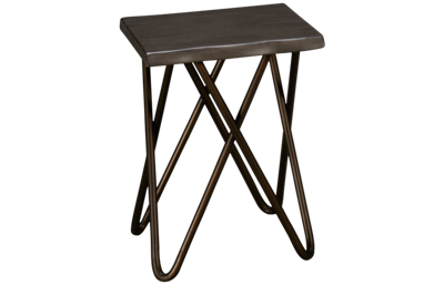 Flexsteel Smoke Chairside Table