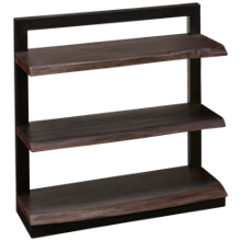 Jofran Nature's Edge Live Edge 3 Shelf Bookcase