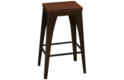 Amisco Elwood Non Swivel Upright Counter Stool