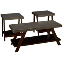 Ashley Bellenteen 3 Pack Cocktail Table and 2 End Tables