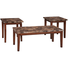 Ashley Theo Cocktail Table and 2 End Tables