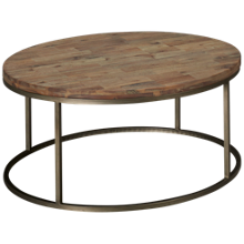 Casana Julien Wooden Top Round Cocktail Table