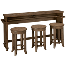 Liberty Furniture Harvest Home Console Bar and 3 Stools