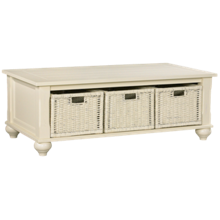 Klaussner Home Furnishings Treasures Cocktail Table and 3 Baskets