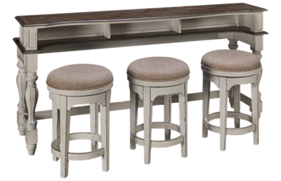 Liberty Furniture Magnolia Manor Console Table and Stool Set