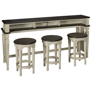 Marvelous Liberty Furniture Allyson Park Console Table With 3 Stools Gmtry Best Dining Table And Chair Ideas Images Gmtryco